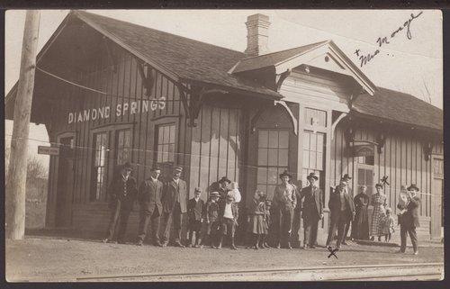 Atchison, Topeka and Santa Fe Railway Company depot, Diamond Springs, Kansas - Page