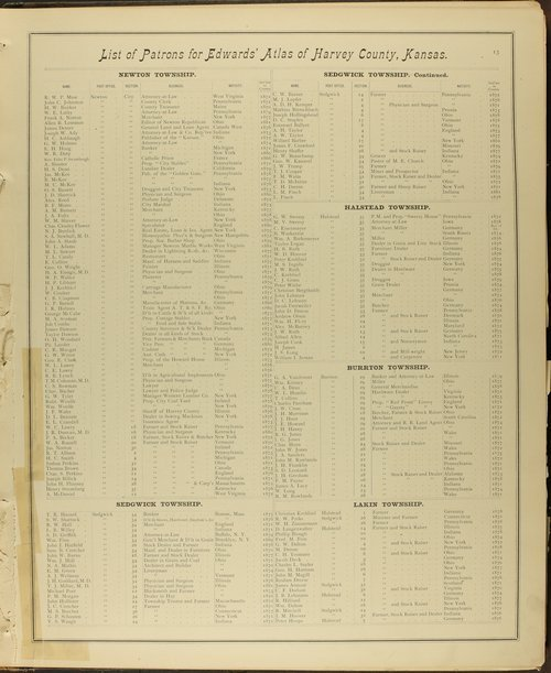 Historical atlas of Harvey County, Kansas - Page