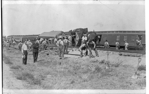 Train wreck, Selkirk, Kansas - Page