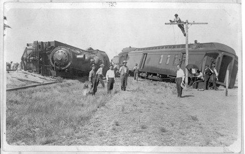 Train wreck, Selkirk, Kansas - Page