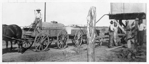 Hauling water, Overbrook, Kansas - Page