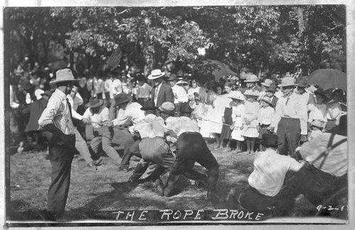 Tug of war match, Bourbon County, Kansas - Page