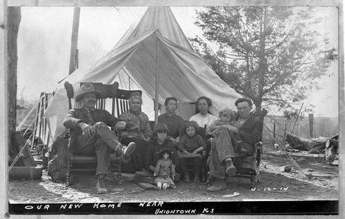 Family camping, Uniontown, Kansas