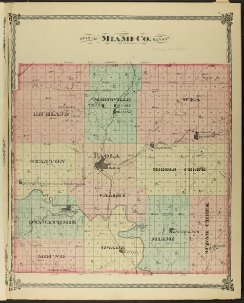 An illustrated historical atlas of Miami County, Kansas - Page