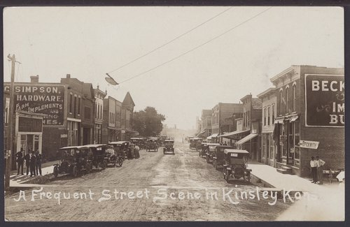 Street scene in Kinsley, Kansas - Page