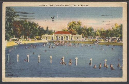 Swimming pool at Gage Park in Topeka, Kansas - Page