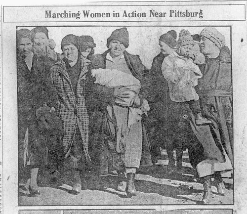 Women marching at the mines near Pittsburg, Kansas - Page