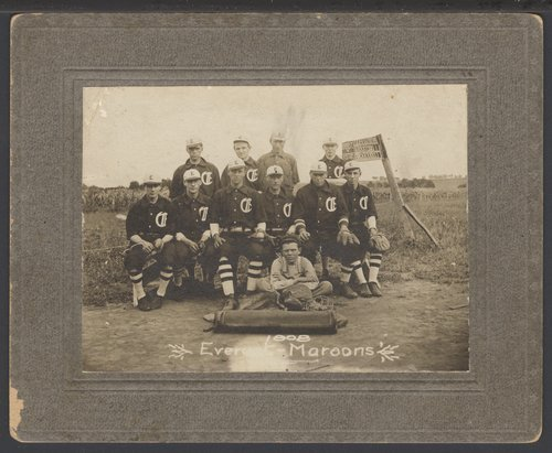 Maroons baseball team from Everest, Kansas - Page