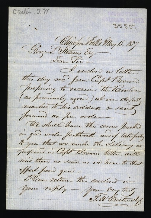 John Wesley Carter to George L. Stearns - Page