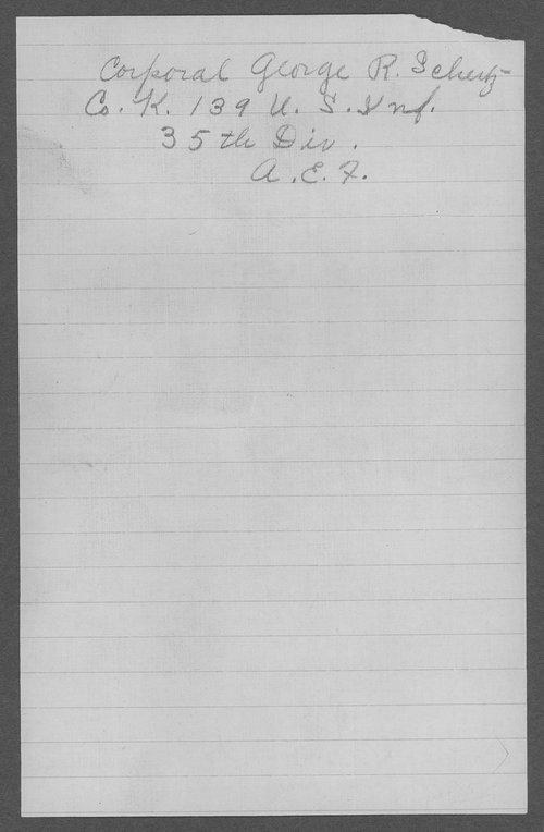 George R. Schertz, World War I soldier - Page