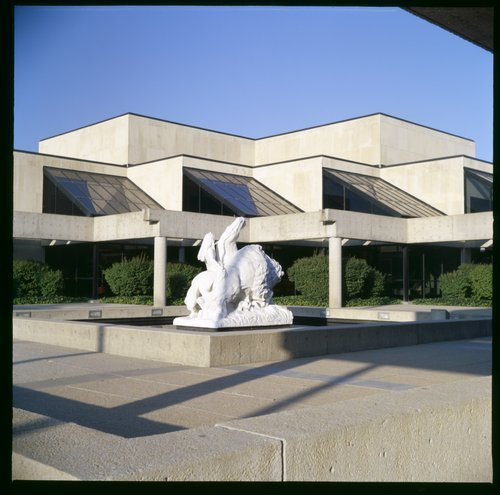 Kansas State Historical Society's Kansas Museum of History and White Buffalo statue - Page