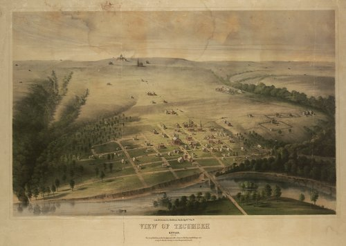 View of Tecumseh, Kansas Territory - Page