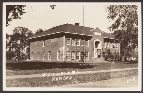 School building in Richmond, Kansas - Page
