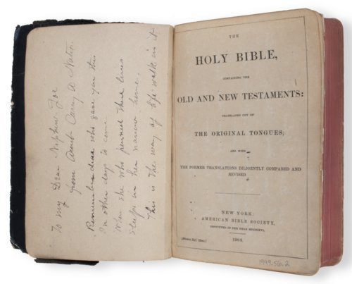 Carry Nation's bible - Page