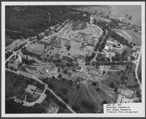 Aerial views of construction of Menninger West Campus buildings, Topeka - Page
