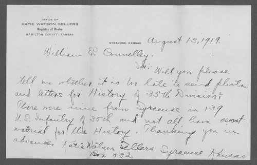 Merle Daniel Sellers, World War I soldier - Page