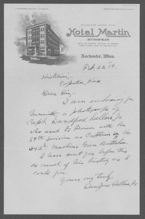 Sanford Sellers, World War I soldier - Page