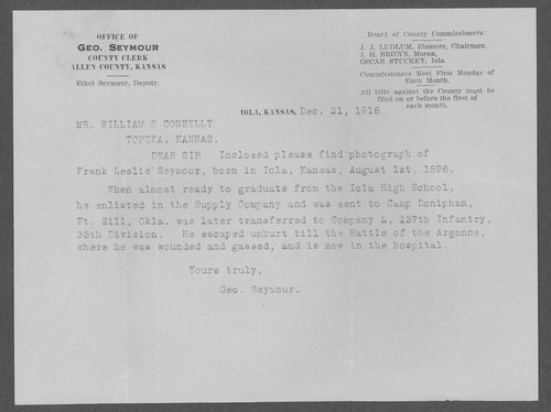 Frank Leslie Seymour, World War I soldier - Page
