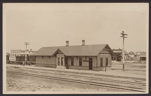 Union Pacific Railroad Company depot, Sharon Springs, Kansas - Page