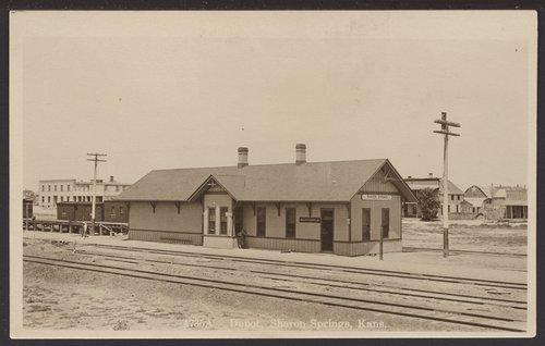 Union Pacific Railroad Company depot, Sharon Springs, Kansas - Page