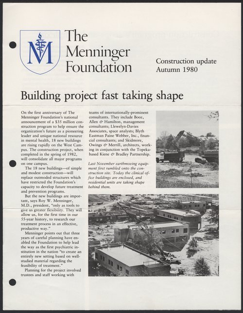 Construction update, Autumn 1980, Menninger Foundation, Topeka, Kansas - Page