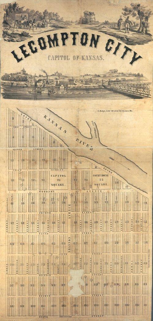 Lecompton City map - Page
