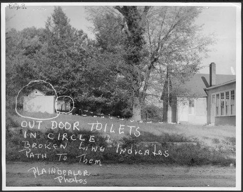 Outdoor toilets at Walker School in Johnson County, Kansas - Page
