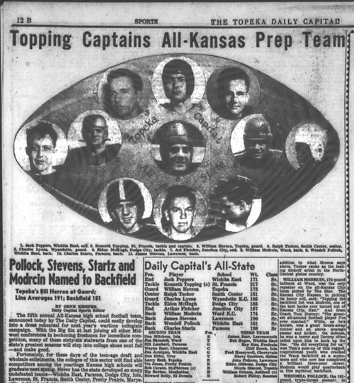 """Topping Captains All-Kansas Prep Team"" - Page"