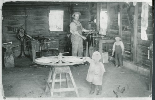 Gustaf Berquist's Blacksmith Shop, Weskan, Kansas - Page