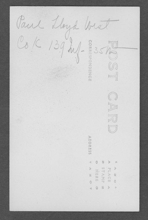 Paul Lloyd West, World War I soldier - Page