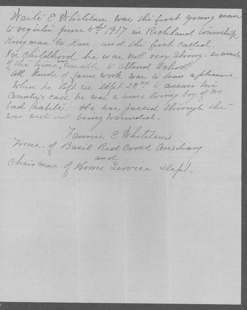 Waite Edward Whitelaw, World War I soldier - Page