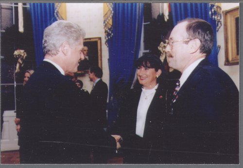 Dan Lykins with President William Clinton - Page