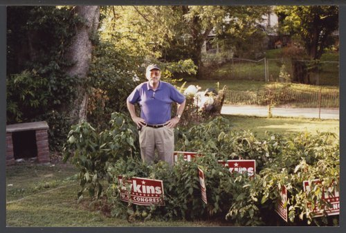 Dan Lykins standing in the backyard of his family home in Atchison, Kansas - Page