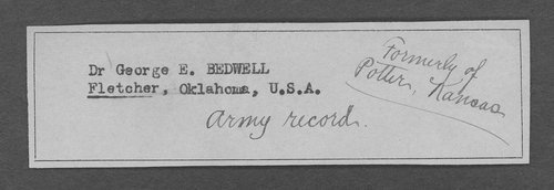 Dr. George E. Bedwell, World War I soldier - Page
