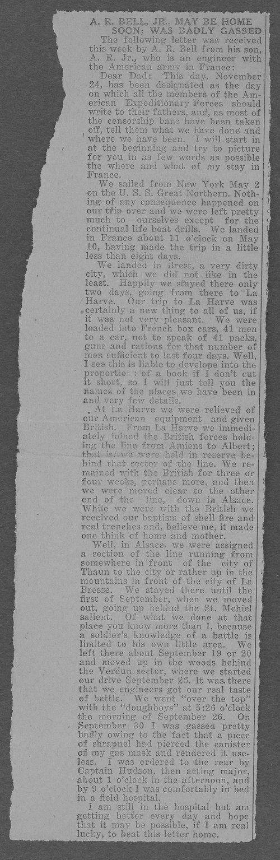 Alexander R. Bell, World War I soldier - Page