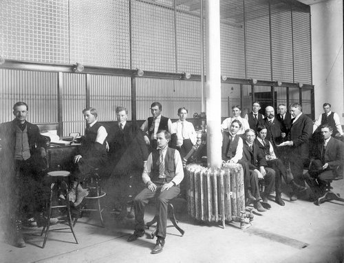 Office force in sugar beet factory in Garden City, Kansas - Page
