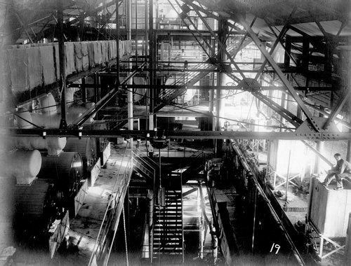 Partial interior of million dollar sugar factory in Garden City, Kansas - Page