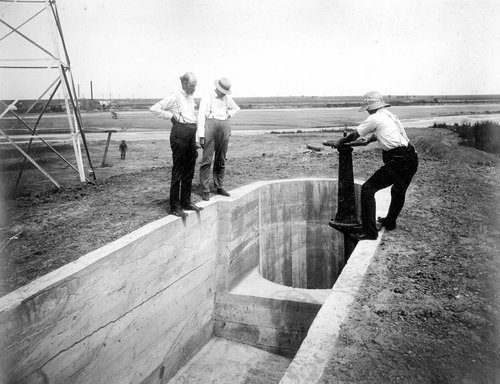 Intake to siphon south side of river in Finney County, Kansas - Page