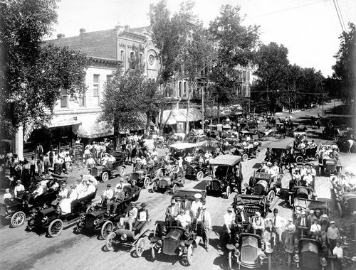 Twenty-two of the seventy-two automobiles in Garden City, Kansas - Page