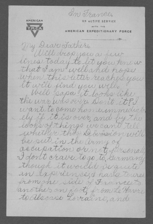 Loren Benson, World War I soldier - Page