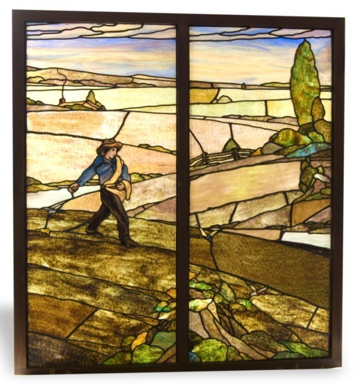 Stained glass window from the Capper building where WIBW radio was broadcast