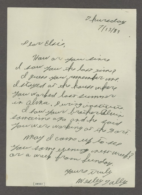 Wesley and Elsie Hasenbank Tally collection - Page