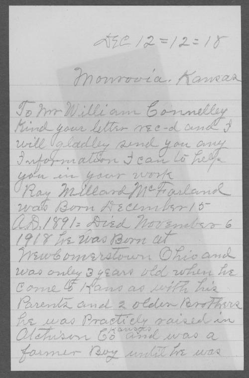 Ray Millard McFarland, World War I soldier - Page