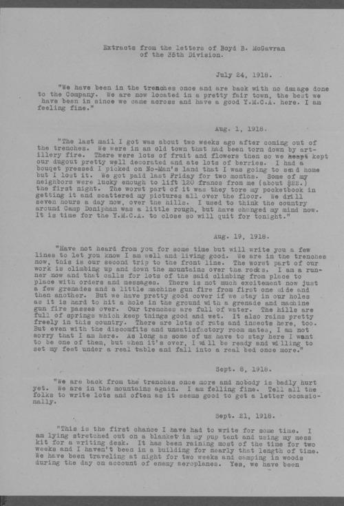 Boyd Branch McGavran, World War I soldier - Page
