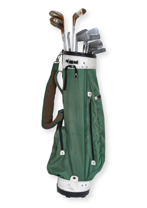Golf bag and clubs - Page