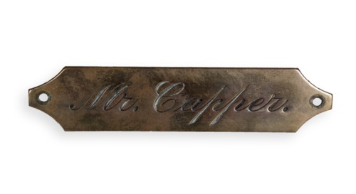 Arthur Capper nameplate - Page