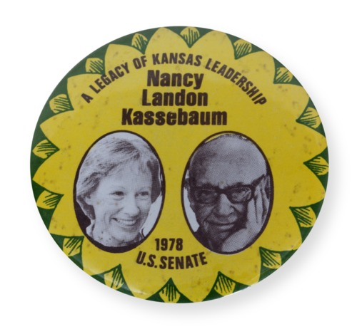 Kassebaum Political button - Page