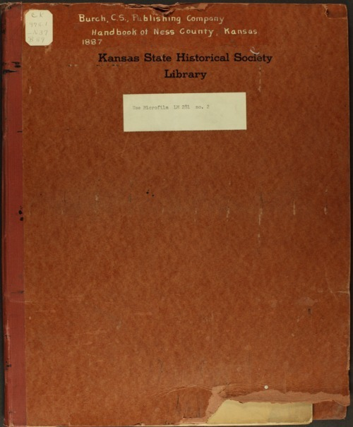 Handbook of Ness County, Kansas - Page