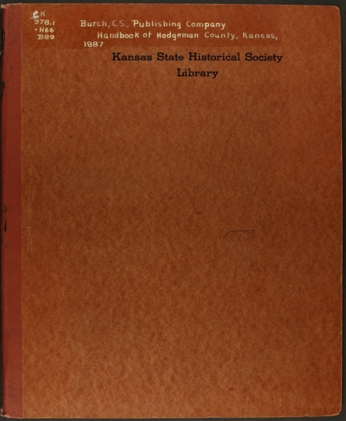 Handbook of Hodgeman County, Kansas - Page