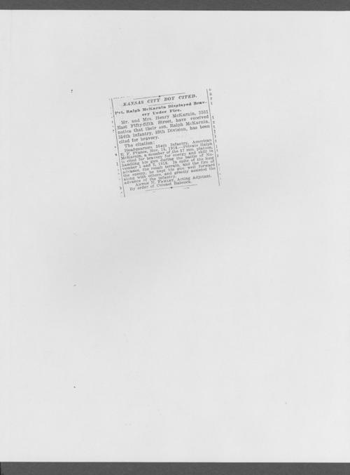 Ralph McKarnin, World War I soldier - Page